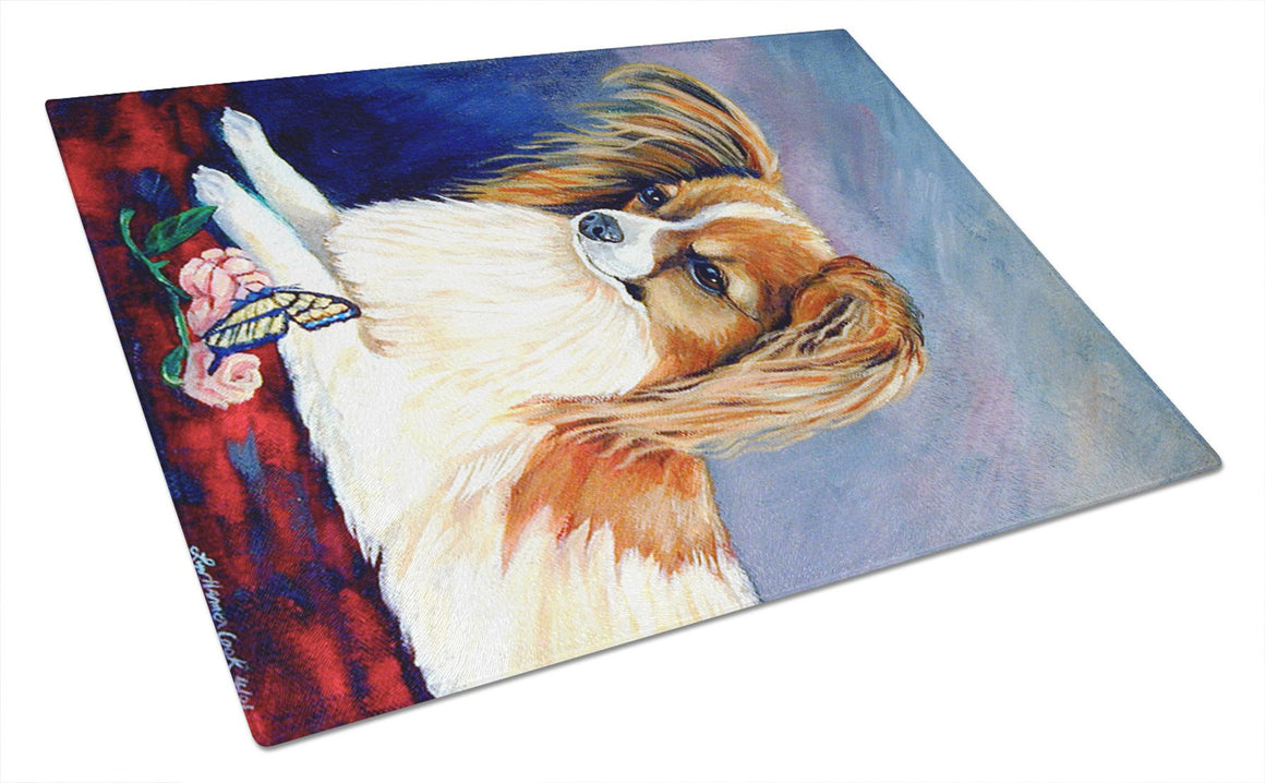 Buy this Sable Papillon with a Butterfly and rose Glass Cutting Board Large
