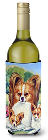 Papillon A Momma's Love Wine Bottle Beverage Insulator Beverage Insulator Hugger by Caroline's Treasures