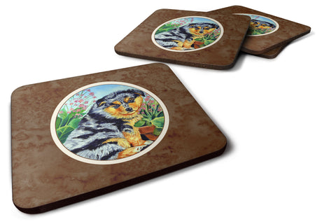 Buy this Australian Shepherd Puppy Foam Coaster Set of 4 7045FC