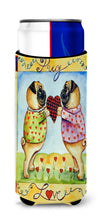 Pug LOVE Pug Love Valentine's Day Ultra Beverage Insulators for slim cans 7046MUK by Caroline's Treasures