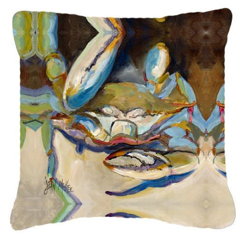 Three Big Claw Crab Canvas Fabric Decorative Pillow JMK1257PW1414 by Caroline's Treasures