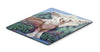 Chinese Crested in flowers Mouse Pad, Hot Pad or Trivet - the-store.com