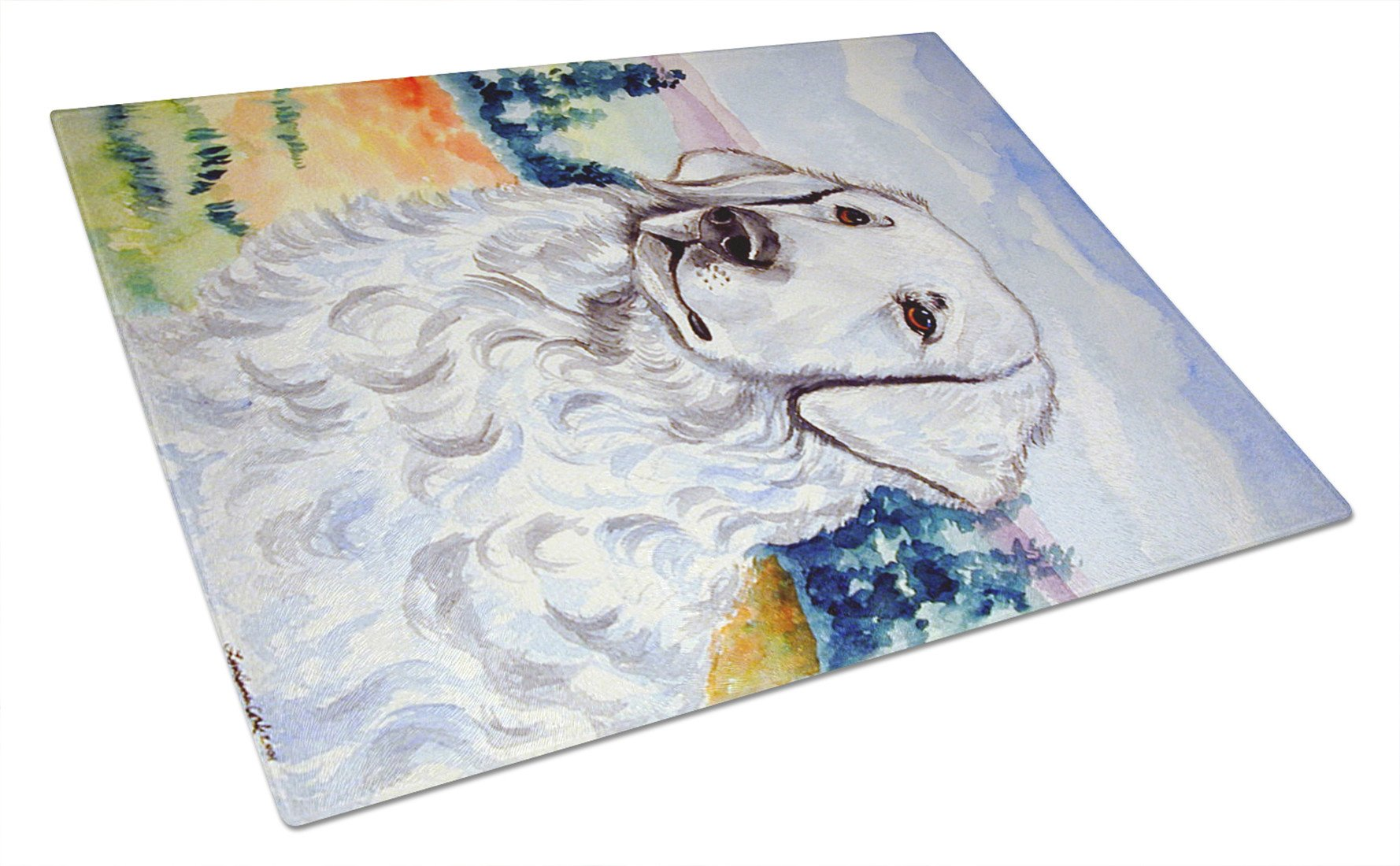 Kuvasz Glass Cutting Board Large by Caroline's Treasures