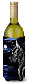 Buy this Black Great Dane in the Moonlight Wine Bottle Beverage Insulator Beverage Insulator Hugger