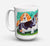 Buy this Basset Hound Double Trouble Dishwasher Safe Microwavable Ceramic Coffee Mug 15 ounce 7061CM15