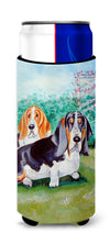 Basset Hound Double Trouble Ultra Beverage Insulators for slim cans 7061MUK by Caroline's Treasures