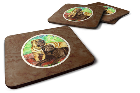 Buy this Shar Pei Fawn and Chocolate Foam Coaster Set of 4 7070FC