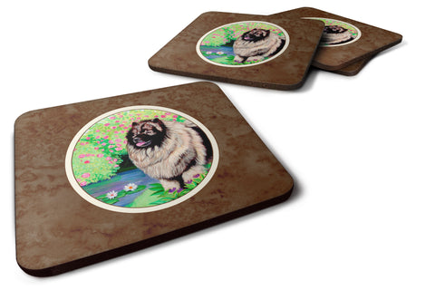 Buy this Keeshond Foam Coaster Set of 4 7074FC