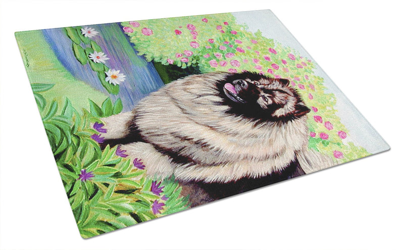 Keeshond Glass Cutting Board Large by Caroline's Treasures