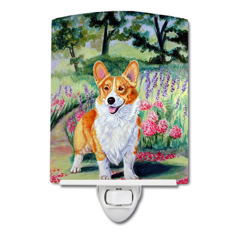 Buy this Pembroke Corgi Springtime Ceramic Night Light 7077CNL