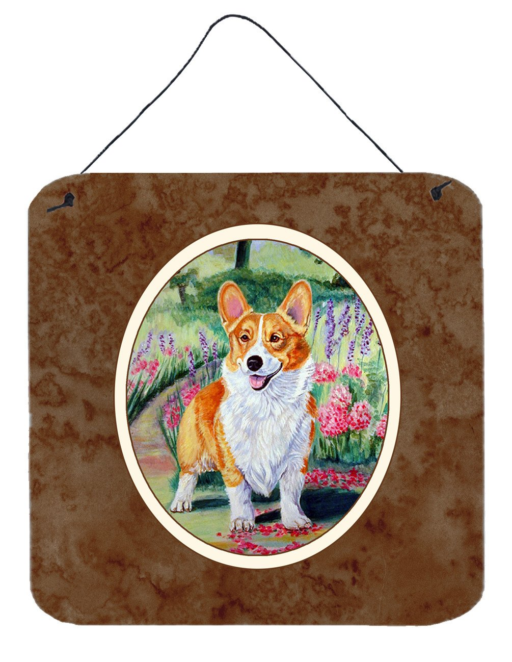 Buy this Pembroke Corgi Springtime Wall or Door Hanging Prints 7077DS66