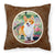 Buy this Pembroke Corgi Springtime Fabric Decorative Pillow 7077PW1414