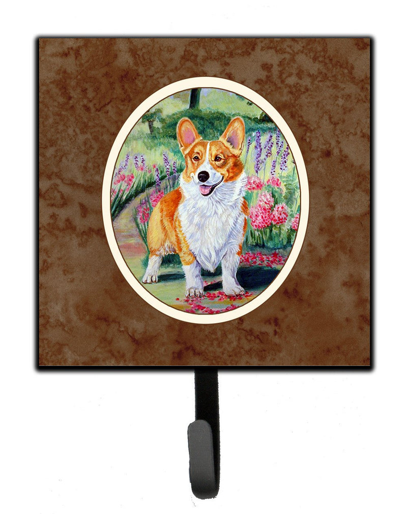 Buy this Pembroke Corgi Springtime Leash or Key Holder 7077SH4