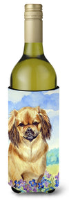 Buy this Tibetan Spaniel Wine Bottle Beverage Insulator Beverage Insulator Hugger 7078LITERK
