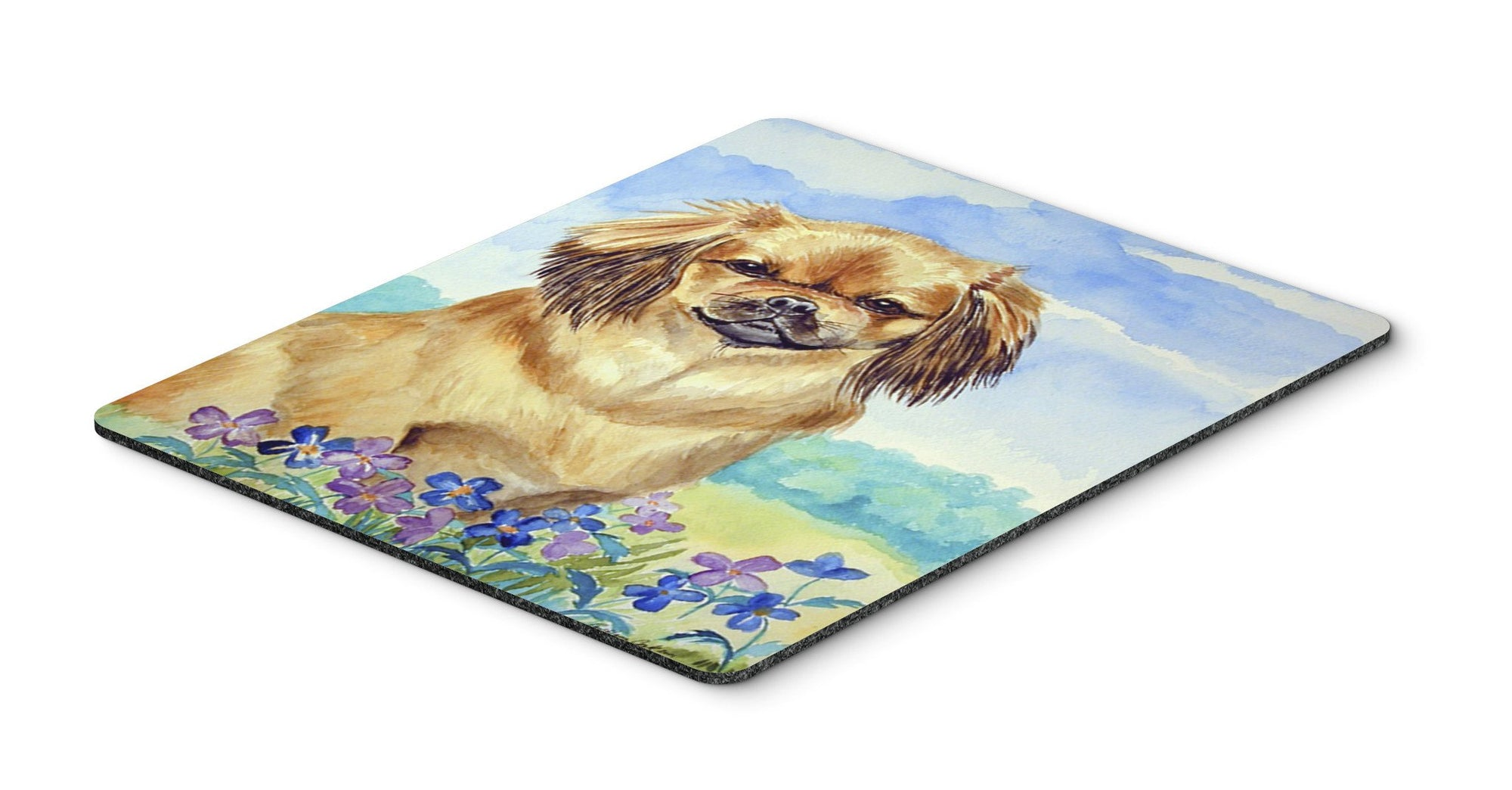 Tibetan Spaniel Mouse Pad, Hot Pad or Trivet by Caroline's Treasures