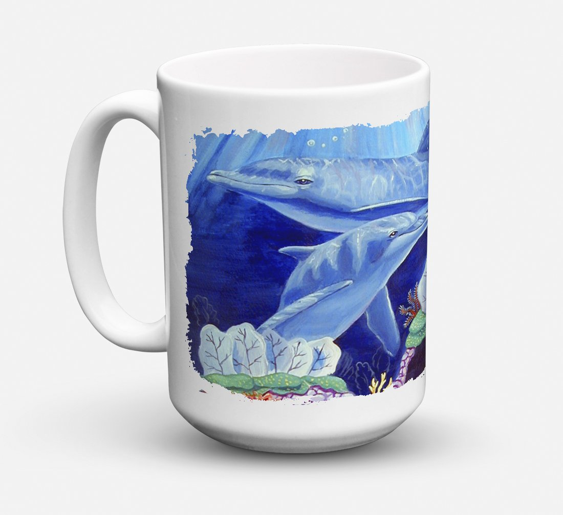 Buy this Dolphin under the sea Dishwasher Safe Microwavable Ceramic Coffee Mug 15 ounce 7080CM15