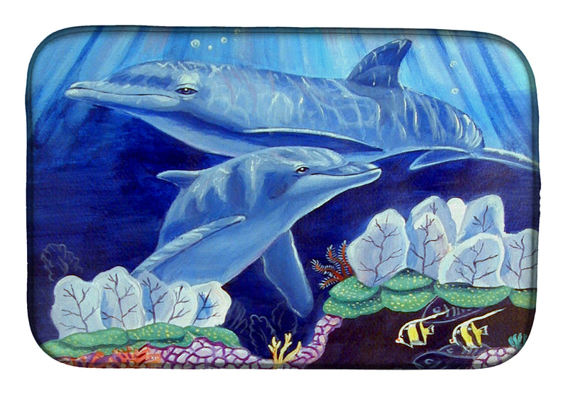 Buy this Dolphin under the sea Dish Drying Mat 7080DDM