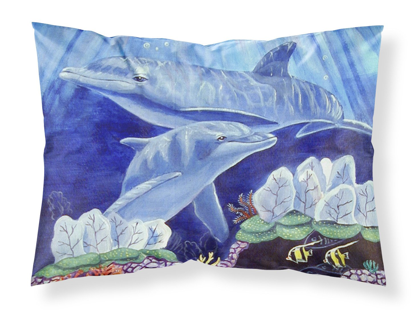 Dolphin under the sea Moisture wicking Fabric standard pillowcase by Caroline's Treasures