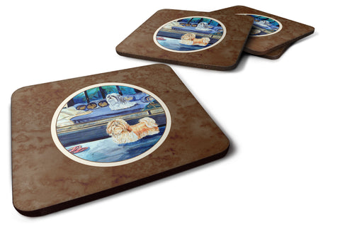 Buy this Shih Tzu Double Trouble Foam Coaster Set of 4 7082FC