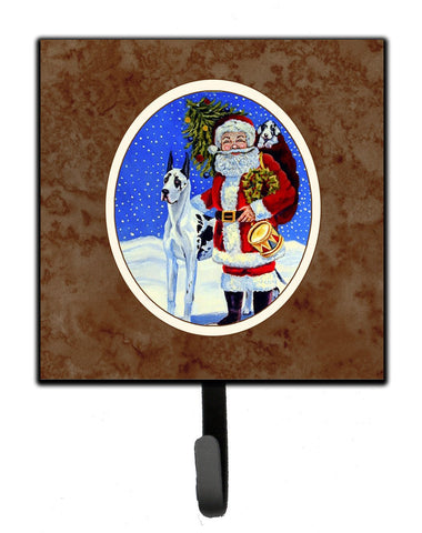 Buy this Harlequin Great Dane with Santa Claus Leash or Key Holder 7083SH4
