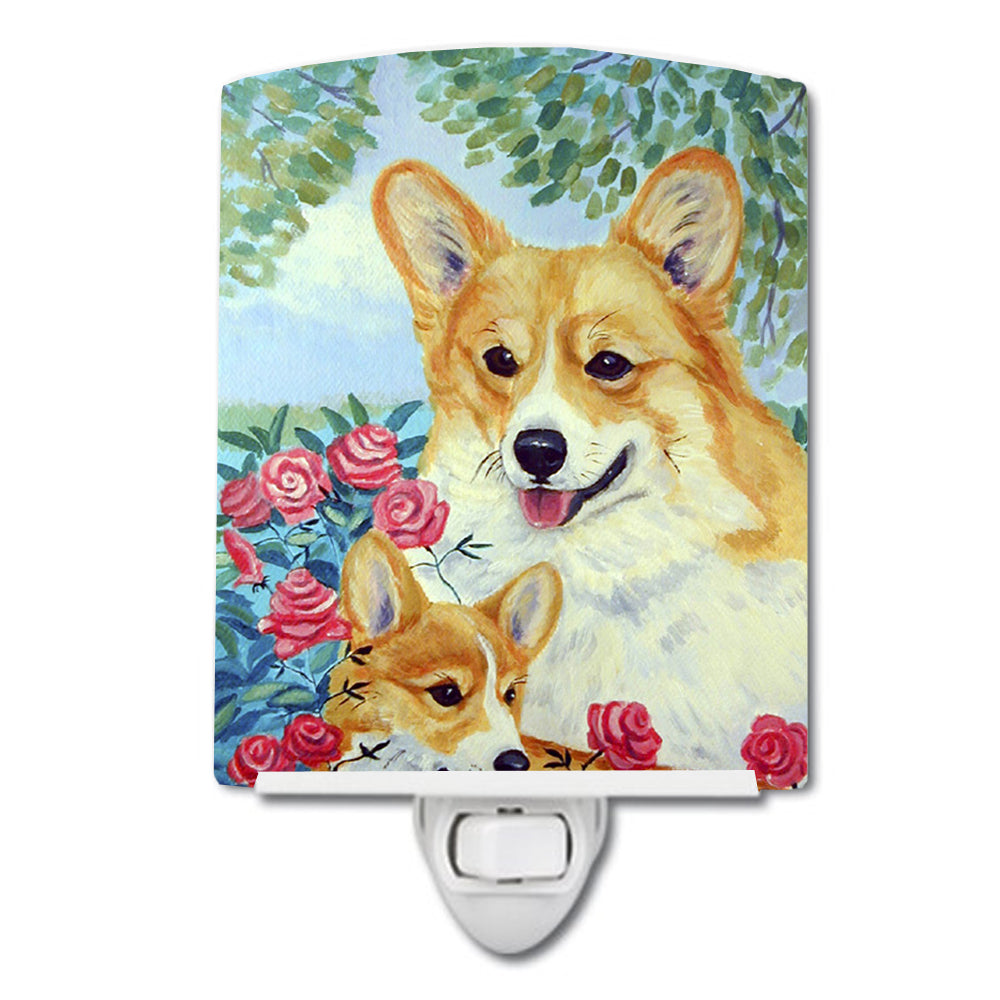 Corgi Momma loves Roses Ceramic Night Light 7084CNL by Caroline's Treasures