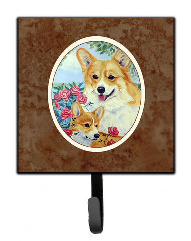 Buy this Corgi Momma loves Roses Leash or Key Holder 7084SH4