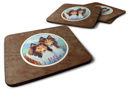 Buy this Sable Shelties Double Trouble Foam Coaster Set of 4 7086FC