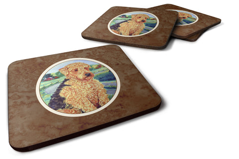 Buy this Airedale Terrier Foam Coaster Set of 4 7096FC