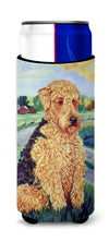 Airedale Terrier Ultra Beverage Insulators for slim cans 7096MUK by Caroline's Treasures