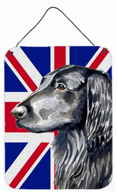 Flat Coated Retriever with English Union Jack British Flag Wall or Door Hanging Prints LH9473DS1216 by Caroline's Treasures
