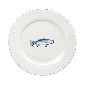 Buy this Fish Speckled Trout Ceramic - Plate Round 11 inch solid white 8496-DPW