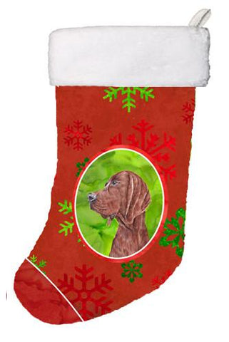 Buy this Redbone Coonhound Red Snowflakes Holiday Christmas Stocking SC9755-CS