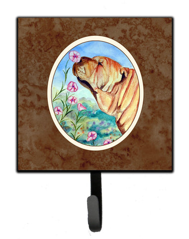 Buy this Shar Pei Smell the flowers Leash or Key Holder 7105SH4