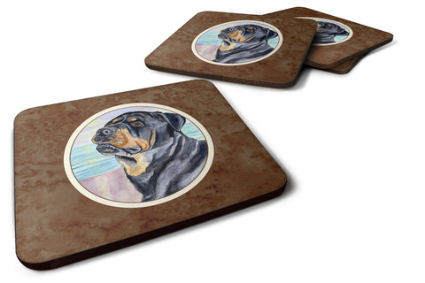 Buy this Rottweiler Foam Coaster Set of 4 7107FC