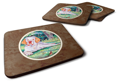Buy this Clumber Spaniel Foam Coaster Set of 4 7113FC