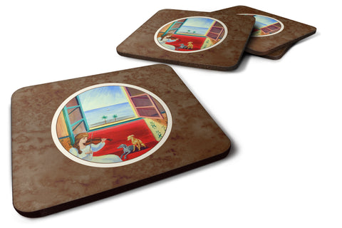 Buy this Italian Greyhounds and Violinist Foam Coaster Set of 4 7126FC