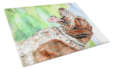 Buy this Italiano Spinone Glass Cutting Board Large