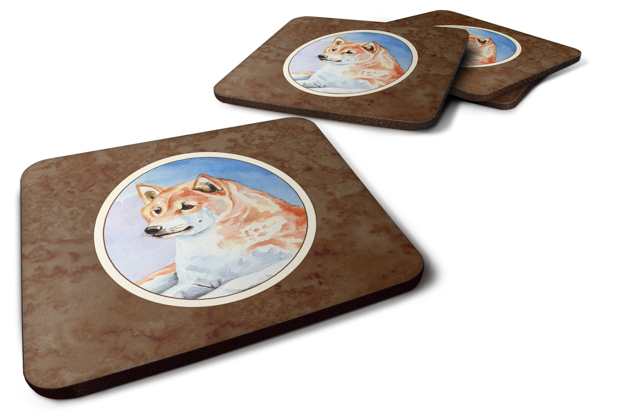 Buy this Shiba Inu Foam Coaster Set of 4 7135FC