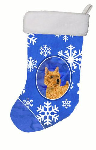Buy this Norwich Terrier Winter Snowflakes Christmas Stocking SS4637