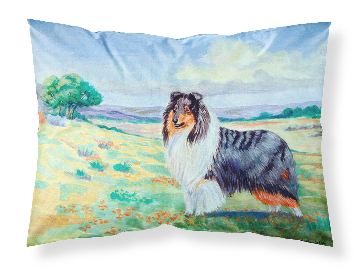 Collie Moisture wicking Fabric standard pillowcase by Caroline's Treasures