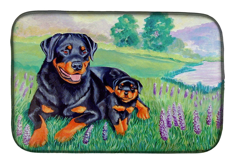Buy this Rottweiler Dish Drying Mat 7141DDM