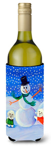 Buy this Snowman Bichon Frise Wine Bottle Beverage Insulator Beverage Insulator Hugger
