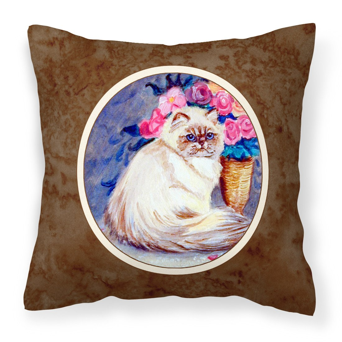 Persian Cat Fabric Decorative Pillow 7150PW1414 by Caroline's Treasures