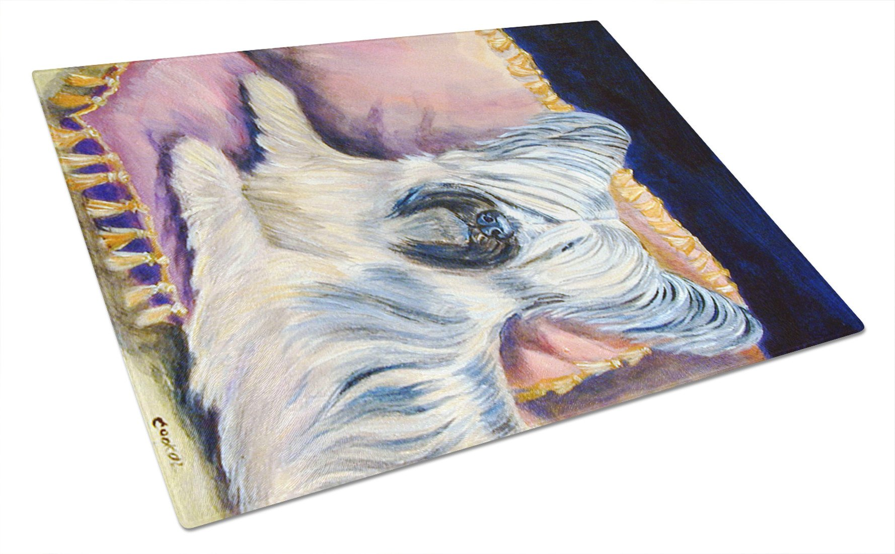 Skye Terrier Glass Cutting Board Large by Caroline's Treasures