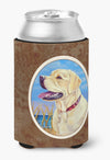 Yellow Labrador at the Beach Can or Bottle Hugger 7158CC by Caroline's Treasures