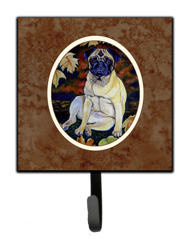 Buy this Fawn Pug in Fall Leaves Leash or Key Holder 7160SH4