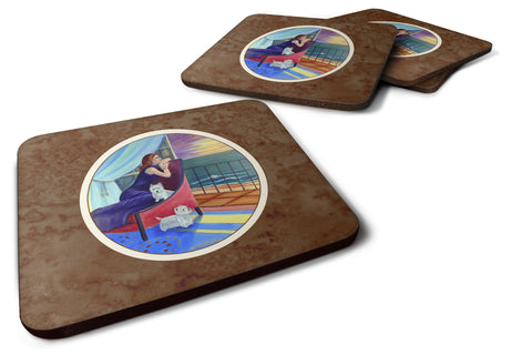 Buy this Lady with her Westie Foam Coaster Set of 4 7167FC