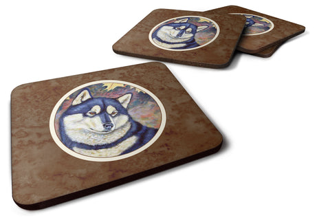 Buy this Fall Leaves Siberian Husky Foam Coaster Set of 4 7173FC