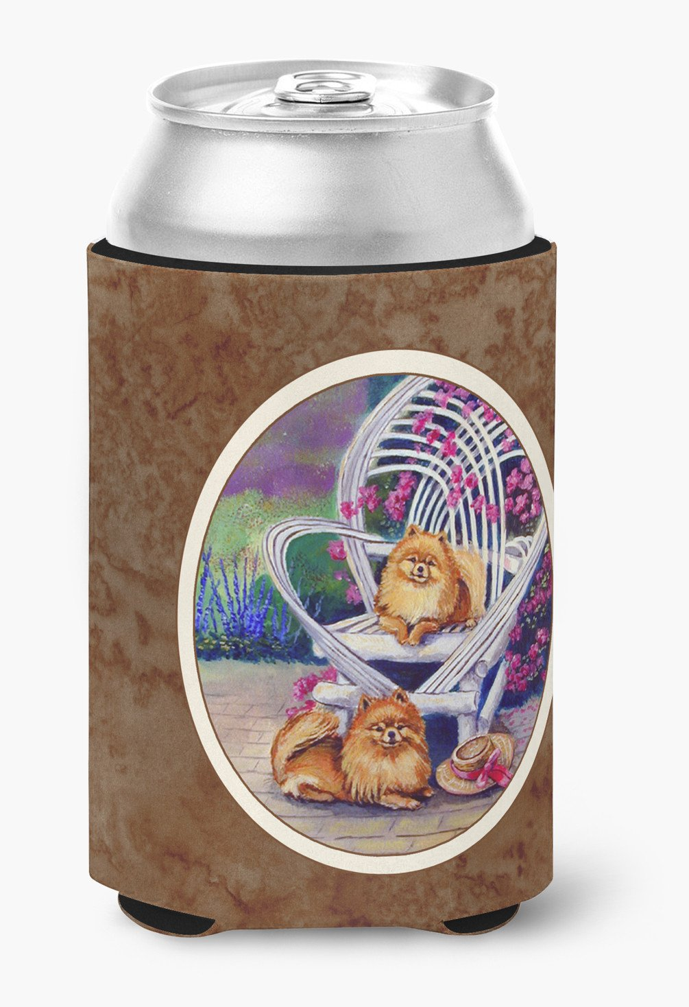 Red Pomeranians Can or Bottle Hugger 7176CC by Caroline's Treasures