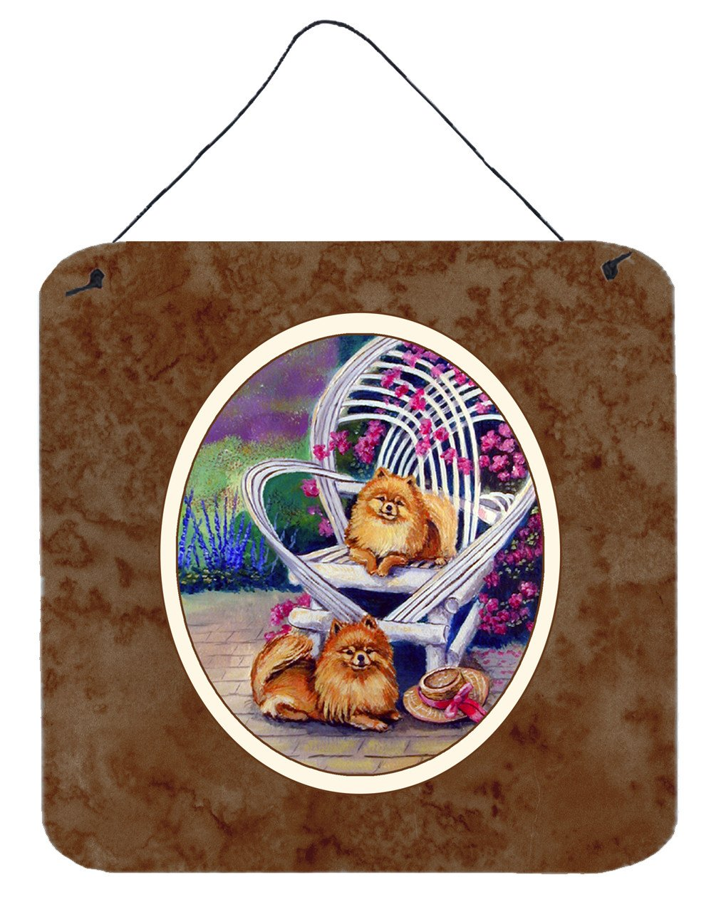 Red Pomeranians Wall or Door Hanging Prints 7176DS66 by Caroline's Treasures